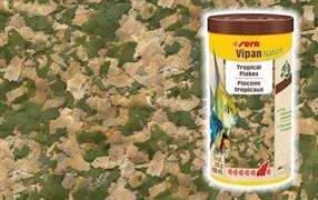 sera Vipan Nature 210 г (соответствует фирменной банке 1 л) на развес - универсальный корм для аквариумных рыбок (крупные хлопья)