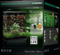 Dennerle NanoCube Basic 30 Style LED M - Нано-аквариум с базовым комлектом для установки и светильником Nano Style LED M, 30x30x35 см, 30 л