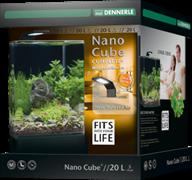 Dennerle NanoCube Complete+ 20 Style LED M - Нано-аквариум с расширенным комлектом для установки и светильником Nano Style LED M, 25x25x30 см, 20 л