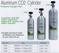 ISTA Алюминиевый баллон CO2 с манометром для контроля давления в баллоне, 3л