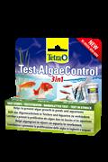 Tetra Test AlgaeControl 3in1 - тест для контроля причин роста водорослей (нитраты, фосфаты, карбонатная жёсткость), 25 полосок