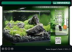 Dennerle Scaper*s Tank Style LED  - панорамный аквариум на 55 литров - в комплекте с фильтром и светильником