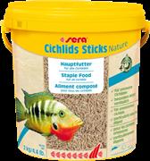 sera Cichlids Sticks Nature 10 л - корм в палочках для всех видов цихлид и других крупных рыб