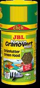JBL NovoGranoVert mini Click 100 мл. (35 г.) - Корм в зеленых мини-гранулах для маленьких аквариумных рыб,банка с дозатором