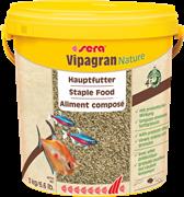 sera Vipagran Nature 10 л - универсальный корм для всех видов рыб (гранулы)