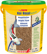 sera KOI Royal Nature medium 21 л (гранулы - 4 мм) - корм для средних карпов Кои