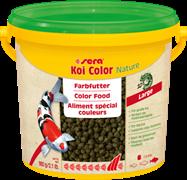 sera KOI Color Nature large 3,8 л (гранулы - 6 мм) - корм для улучшения окраски карпов Кои